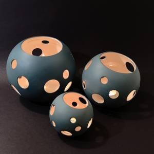 Bilde av Lykt - SKYGGE - Medium Porselen T-lysholder